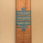 Vintage Eagle Turquoise 2H Pencils