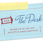 Ask The Desk: Smudge-Free Writing (of particular concern to Lefties)