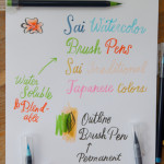Review: Sai Watercolor brush markers