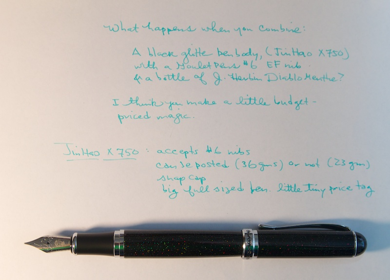 Jinhao X750 + Goulet Pens F Nib writing sample