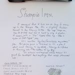 From The Archives: Sharpie Pen