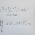 From The Archive: Retro 51 Tornado Mini Crossword Pencil