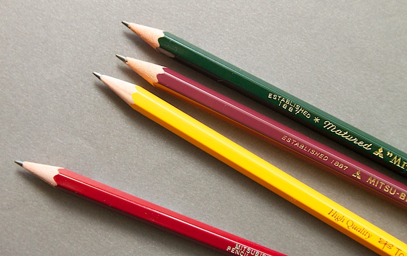 Japanese pencil comparison points