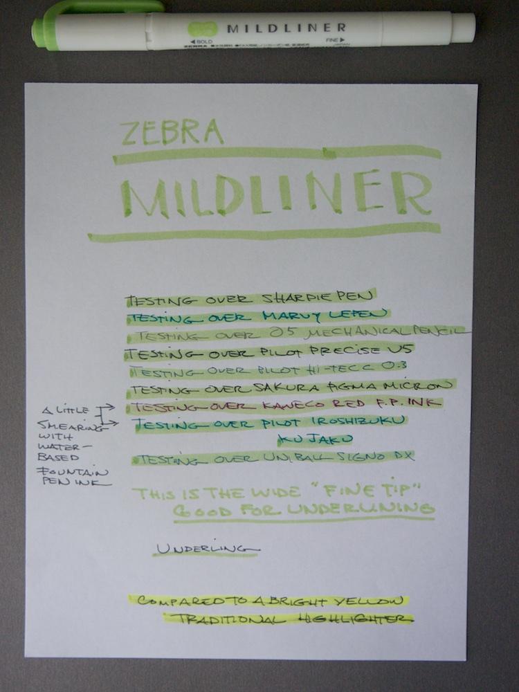 Zebra Mildliner Pen