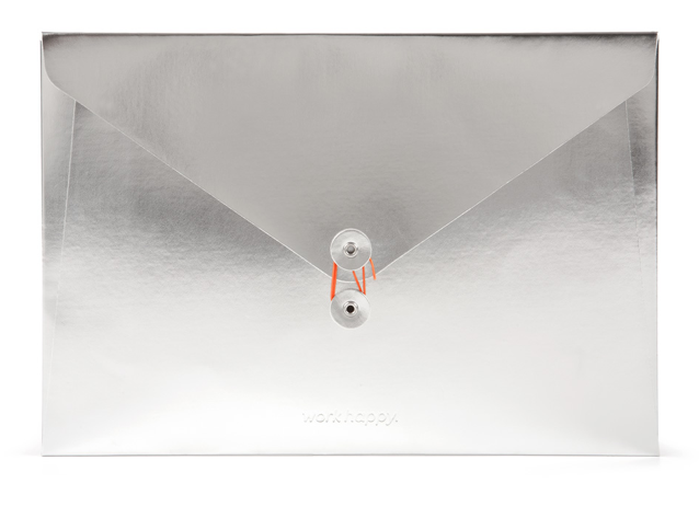 Poppin Silver Document Folio