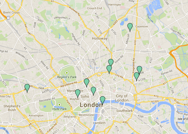 Stationery Shop Map