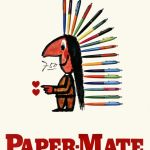 Art of the Day: Paper-Mate poster from 1956