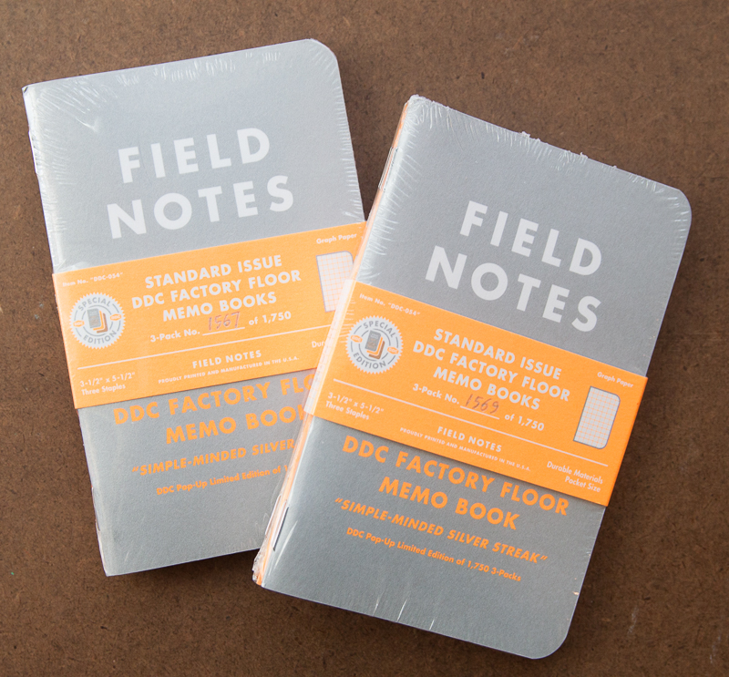 Field Notes DDC Factory Floor Silver Streak