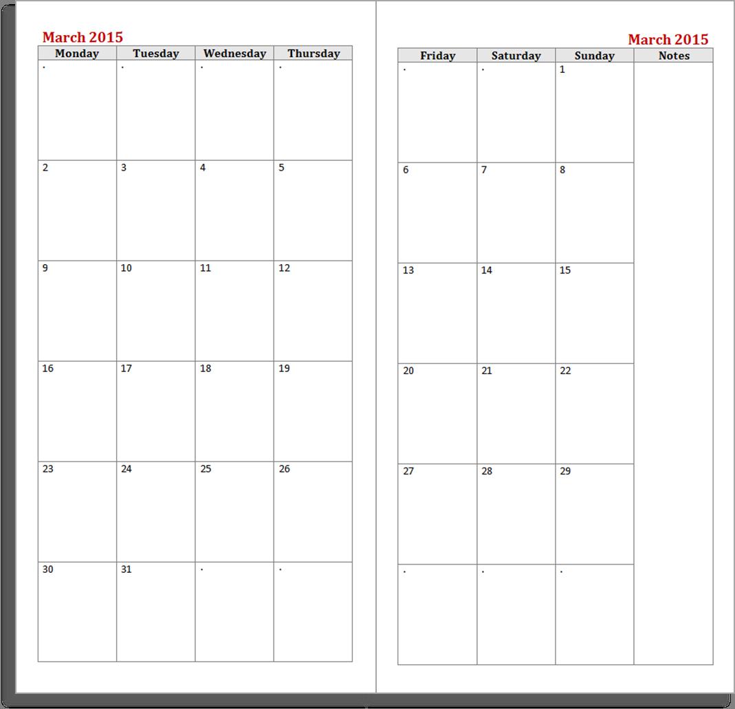 Blank Desk Calendar | Calendar Template 2016