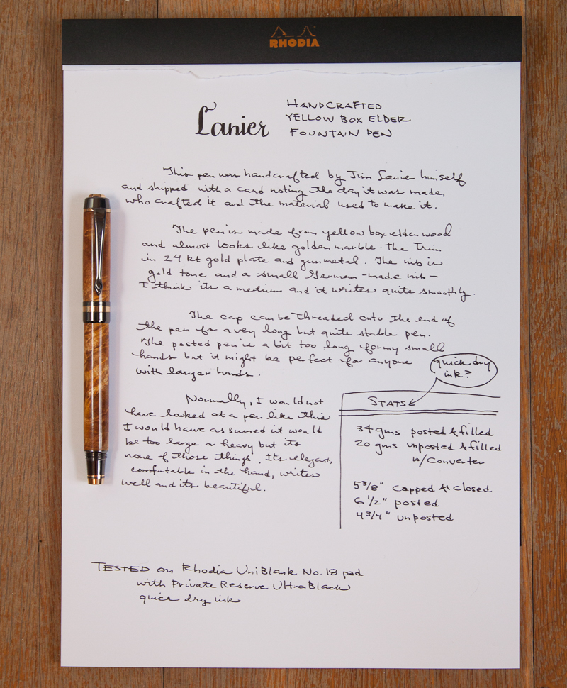 Lanier Classic Elite writing sample
