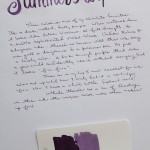 Ink Review: Kaweco Summer Purple