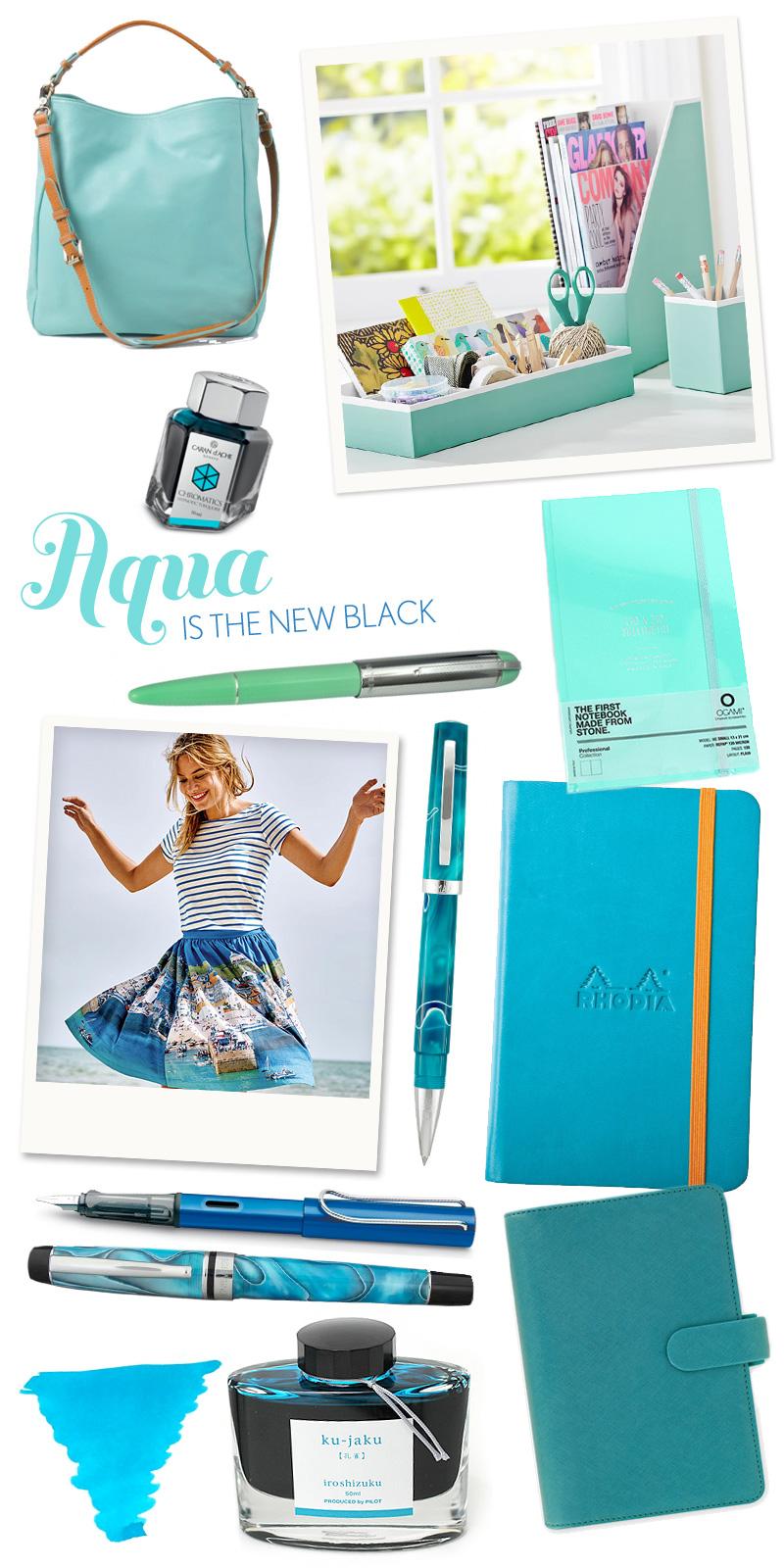 Fashionable Friday: Aqua ins the new black