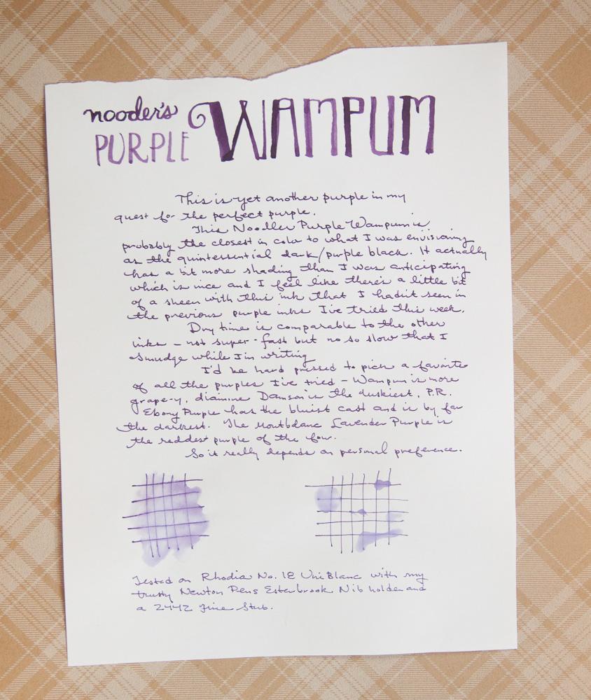 Noodlers Purple Wampum