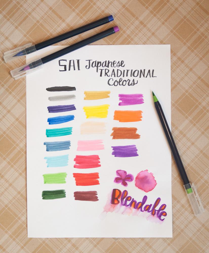 Sai Watercolor Markers