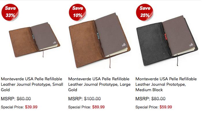 Yafa Monteverde Pelle Journals