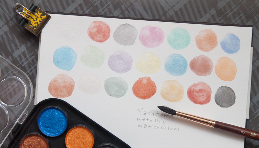 Review Yasutomo Niji Pearlescent Watercolor 21 Color Set